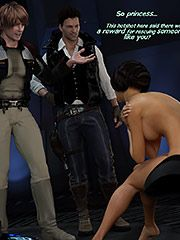 I want you inside, fuck your little princess - The Farce Awakens: Naughty princess  3D Collection