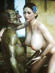 Hot babe drilled with huge cocks in myth scene - Elf slave 6 Love and Lust by Jared999d