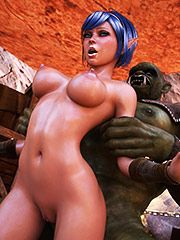 Two orcs want to have some sexy fun with her - Ardent heat  by 3D Collection