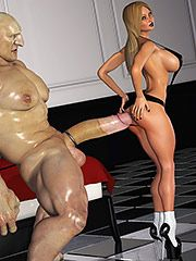 Taking her body without problem even in that position - The Blonde and The Giant by Zzomp