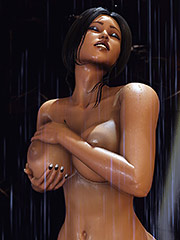 Deep penetration of naked bodies - After shower by Shassai