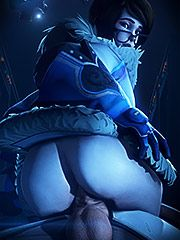 Mei gets a massive cumshot - Overwatch: Mei  3D Collection