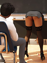 Teacher gives a hot lesson - Shot story 11 by Losekontrol (Hijab 3DX)