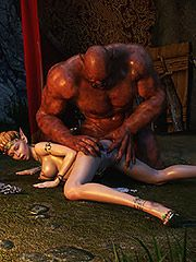 Two horrid orc bimbos enjoy pleasuring each other's cunts - Elven desires 5  by 3D Collection