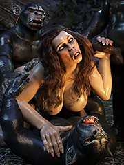 Weird 3d porn - Neanderthal Woman by IronRooRoo