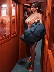 Gisela and Zoe taking a train ride - Dickgirls 9 by Blackadder