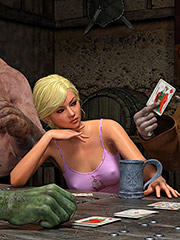 Sex games with strangers - Knight Elayne, Strip poker by Hibbli3d (Hibbli, Adara)