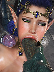 Exquisite pleasure of blowjob - Elven Desires (Distress Signal 3) by Jared999d